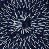 Navy Blue Melange White